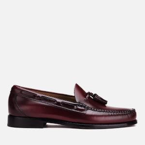 Bass Weejuns Men's Larkin Moc Leather Tassel Loafers - Wine