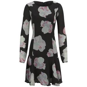 VILA Women's Cross Floral Dress - Phantom