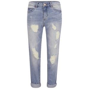 VILA Women's Crime 7/8 Boyfriend Jeans - Light Blue