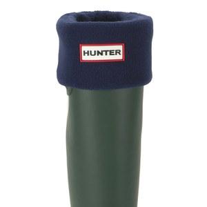 Hunter Unisex Tall Fleece Welly Socks - Navy