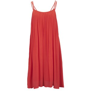 VILA Women's Liz Strap Dress - Hot Coral