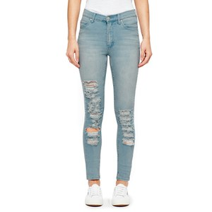 Cheap Monday Women's 'Second Skin' High Waisted Skinny Jeans - Blue