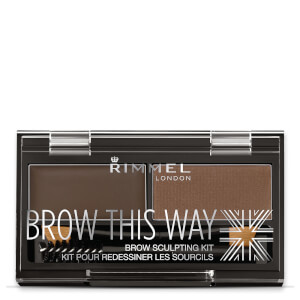 Kit de Sobrancelhas Brow This Way da Rimmel - 003 Dark Brown