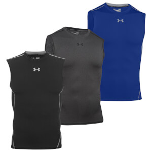 T-Shirt Compression HeatGear® sans manches Under Armour -Noir