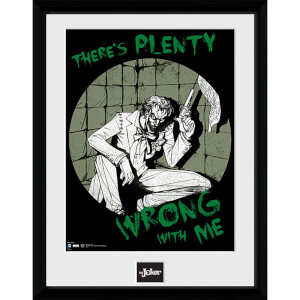 DC Comics Batman Comic Joker Plenty Wrong - Framed Photographic - 16 x 12inch