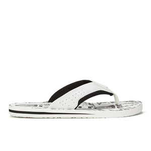 Animal Men's Jekyl Logo Flip Flops - White