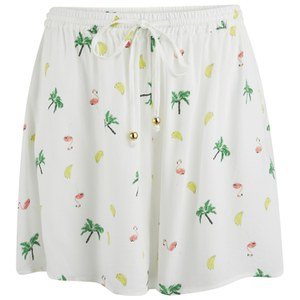 MINKPINK Women's Flamingo Fruit Salad Shorts - Multi