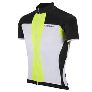 Nalini Red Label Mythos Short Sleeve Jersey - White/Yellow