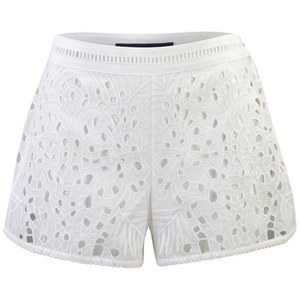 French Connection Women's Embroidered Beach Shorts - Summer White