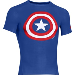 T-Shirt Under Armour® Alter Ego -Captain America Bleu