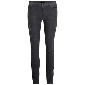 J Brand Women's Sara Cargo Mid Rise Skinny Jeans - Transmission Grey