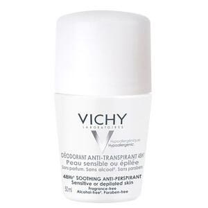 Vichy Deodorant 48H roll-on intensivo anti-transpirante pieles sensibles 50ml