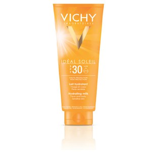 Vichy Idéal Soleil Sun-Milk for Face and Body -aurinkosuojavoide, SPF30, 300ml