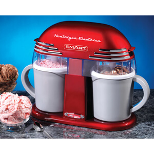SMART Retro 50's Style Double Ice Cream Maker