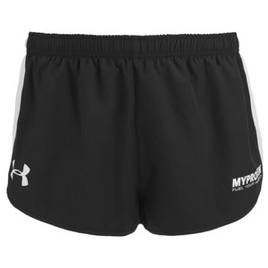 Shorts Atléticos para Hombres Under Armour- Color Negro/Blanco