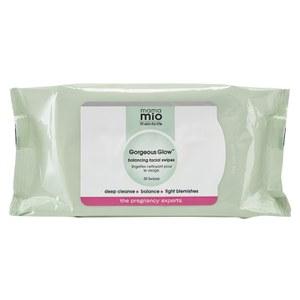 Toallitas limpiadores faciales equilibrantes Mama Mio Gorgeous Glow (30 toallitas)