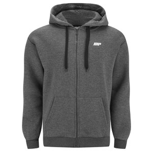 Myprotein Men's Zip Up Hoodie – Charcoal
