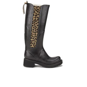 Ilse Jacobsen Women's Animal Rub Tall Boots - Black