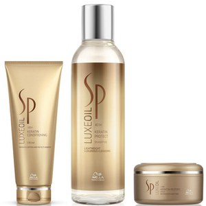 Wella SP Luxe Oil Keratin Shampoo, Conditioner and Mask