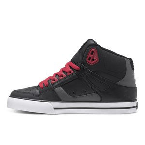 dc shoes high tops red and black. dc shoes men\u0027s spartan high top trainers - red/black/grey: image 2 dc tops red and black