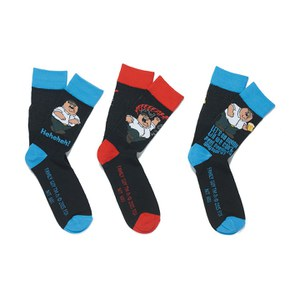 Family Guy Men's 3 Pack Socks - Black/Blue