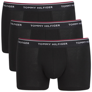 Tommy Hilfiger Men's 3 Pack Trunks - Black