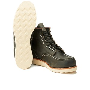 Red Wing Men's 6 Inch Moc Toe Leather Lace Up Boots - Charcoal Rough and Tough: Image 6