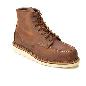 Red Wing Men's 6 Inch Moc Toe Double Welt Leather Lace Up Boots - Copper Rough and Tough: Image 5