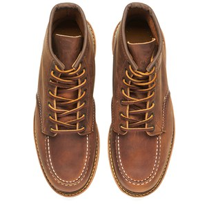 Red Wing Men's 6 Inch Moc Toe Double Welt Leather Lace Up Boots - Copper Rough and Tough: Image 2