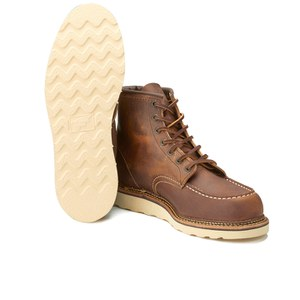 Red Wing Men's 6 Inch Moc Toe Double Welt Leather Lace Up Boots - Copper Rough and Tough: Image 6