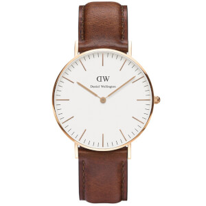 Daniel Wellington Classic St Mawes Rose Watch - Tan