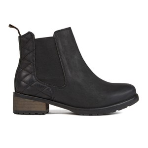 Barbour Women's Caveson Leather Chelsea Boots - Black