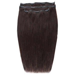 Beauty Works Deluxe Clip-In Hair Extensions 18 Inch - Ebony 1B