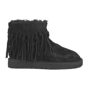 a3e594cd9ed UGG Women's Wynona Fringe Sheepskin Ankle Boots - Black