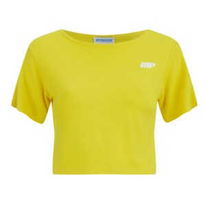 Myprotein Damen bauchfreies T-Shirt, Gelb