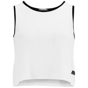 Camiseta de Tirantes para Mujer Cropped Myprotein- Color Blanco