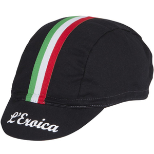 Santini Eroica Cotton Race Cap - Black - One Size