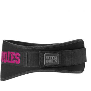 Better Bodies Women's Gym Belt - Black/Pink