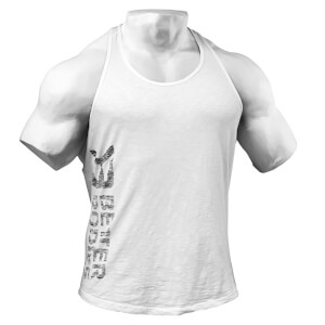 Better Bodies Symbolprinted T-Back Vest - White