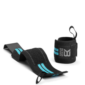 Better Bodies Women's Wrist Wraps - Aqua Blue