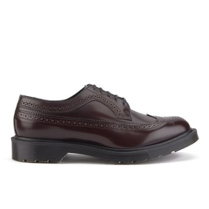 Dr. Martens Men's 'Made in England' 3989 Leather Brogues - Merlot Boanil Brush