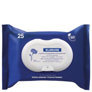 Toallas desmaquillantes calmantes KLORANE (25 toallas)
