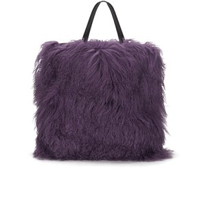 House of Holland Women's Mongolian Fur Tote - Purple