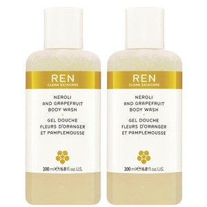 REN Neroli and Grapefruit Body Wash Duo (400ml)