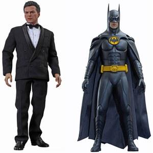 Hot Toys DC Comics Batman Returns Batman y Bruce Wayne Escala 1:6 Figura