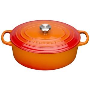 Le Creuset Signature Cast Iron Oval Casserole Dish 27cm - Volcanic