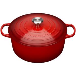 Le Creuset Signature Cast Iron Round Casserole Dish - 20cm - Cerise