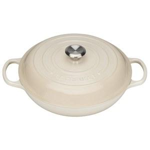 Le Creuset Signature Cast Iron Shallow Casserole Dish 30cm - Almond