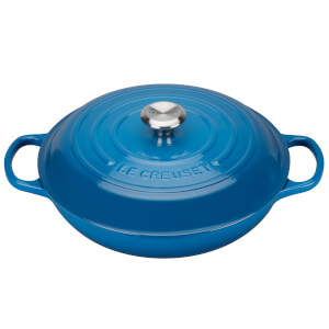 Le Creuset Signature Cast Iron Shallow Casserole Dish - 26cm - Marseille Blue