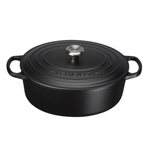 Le Creuset Signature Cast Iron Oval Casserole Dish 27cm - Satin Black